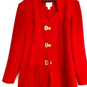 Red scalloped jacket
